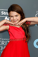 Brooklynn Prince attends the 23rd Annual Critics' Choice Awards at Barker Hangar in Santa Monica, Los Angeles, USA, on 11 January 2018. Photo: Hubert Boesl - NO WIRE SERVICE - Photo: Hubert Boesl/dpa /MediaPunch ***FOR USA ONLY***