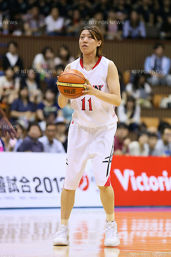 Arisa Fujiwara (JPN), <br /> JUNE 30, 2013 - Basketball : <br /> International Basketball Japan Games 2013 <br /> between Japan Women's 78-61 Mozambique Women's <br /> at 2nd Yoyogi Gymnasium, Tokyo, Japan. <br /> (Photo by YUTAKA/AFLO SPORT)