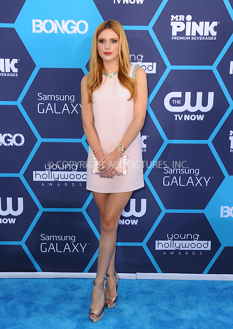 ACEPIXS.COM<br /> <br /> July 27 2014, LA<br /> <br /> Bella Thorne arriving at the 2014 Young Hollywood Awards at The Wiltern on July 27, 2014 in Los Angeles, California. <br /> <br /> By Line: Peter West/ACE Pictures<br /> <br /> ACE Pictures, Inc.<br /> www.acepixs.com<br /> Email: info@acepixs.com<br /> Tel: 646 769 0430