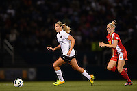 Portland Thorns midfielder Allie Long (10). The Portland Thorns defeated the Western New York Flash 2-0 during the National Women's Soccer League (NWSL) finals at Sahlen's Stadium in Rochester, NY, on August 31, 2013.