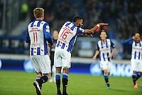 VOETBAL: HEERENVEEN: 23-10-2016, SC Heerenveen - Heracles, uitslag 3-1, Jeremiah St. Juste scoort de 3-1, ©foto Martin de Jong