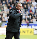 16/05/2009  Copyright  Pic : James Stewart.sct_jspa_06_falkirk_v_st_mirren.FALKIRK MANAGER JOHN HUGHES DURING THE GAME AGAINST ST MIRREN.James Stewart Photography 19 Carronlea Drive, Falkirk. FK2 8DN      Vat Reg No. 607 6932 25.Telephone      : +44 (0)1324 570291 .Mobile              : +44 (0)7721 416997.E-mail  :  jim@jspa.co.uk.If you require further information then contact Jim Stewart on any of the numbers above.........