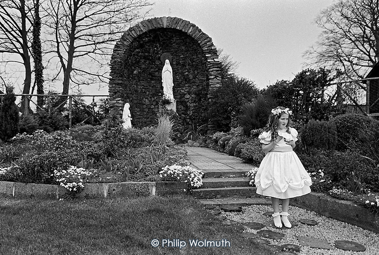 Bridesmaid at Theresa Gaffey's wedding, Dundalk, Ireland.  From the book: MOVING STORIES: Traveller Women Write