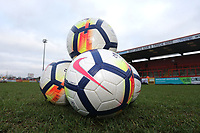 Balls on the pitch during Stevenage vs Reading, Emirates FA Cup Football at the Lamex Stadium on 6th January 2018