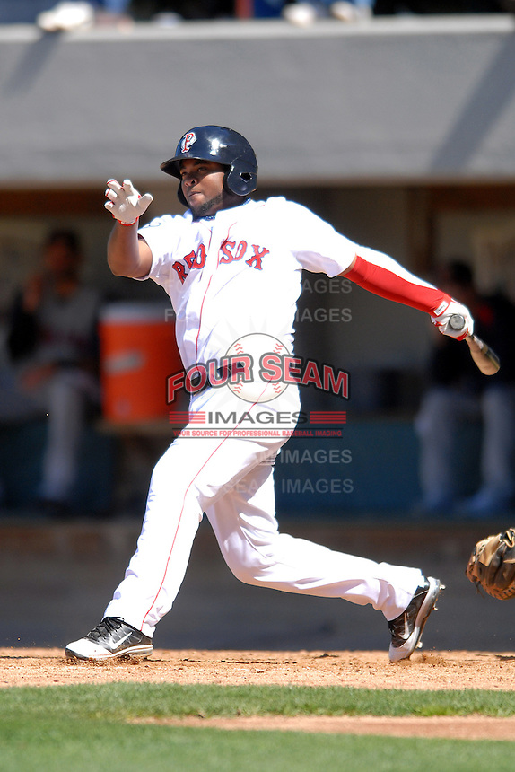 Infielder Yamaico Navarro #11 of the Pawtucket Red Sox during a game versus the Toledo Mud Hens on May 1, 2011 at McCoy Stadium in Pawtucket, Rhode Island. Photo by Ken Babbitt /Four Seam Images