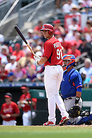 St. Louis Cardinals outfielder Stephen Piscotty (91) during a Spring Training game against the New York Mets on April 2, 2015 at Roger Dean Stadium in Jupiter, Florida.  The game ended in a 0-0 tie.  (Mike Janes/Four Seam Images)