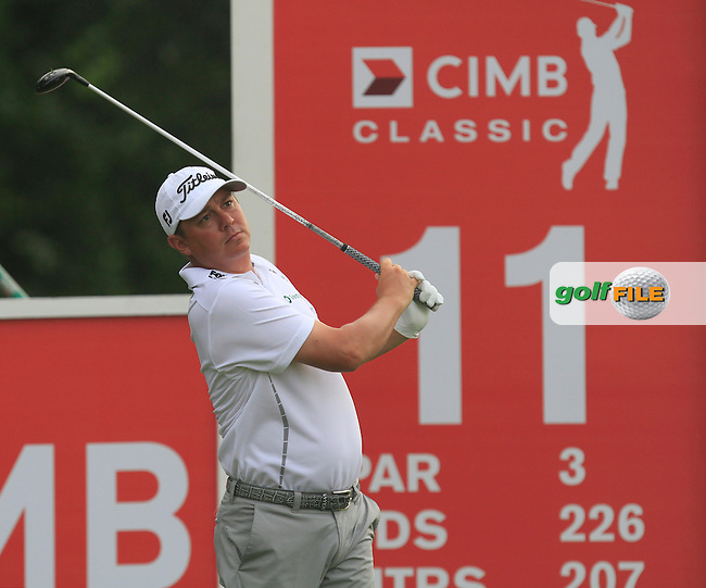 Jason Dufner (USA) on the 11th tee during Round 3 of the CIMB Classic in the Kuala Lumpur Golf &amp; Country Club on Saturday 1st November 2014.<br /> Picture:  Thos Caffrey / www.golffile.ie