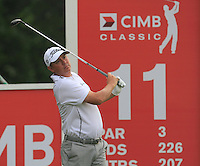 Jason Dufner (USA) on the 11th tee during Round 3 of the CIMB Classic in the Kuala Lumpur Golf & Country Club on Saturday 1st November 2014.<br /> Picture:  Thos Caffrey / www.golffile.ie