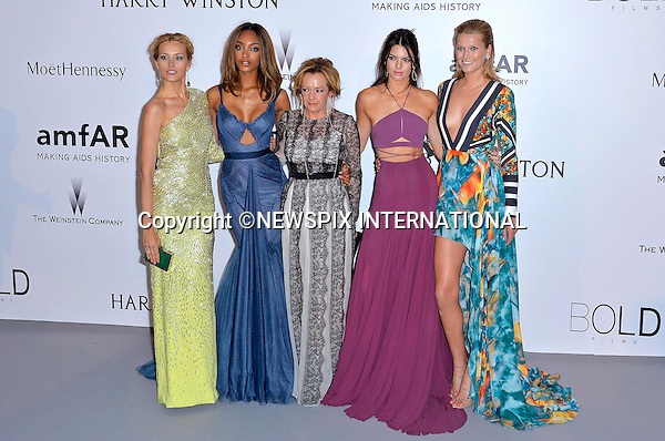 12.05.2015, Antibes; France: PETRA NEMCOVA, JOURDAN DUNN, CAROLINE SCHEUFELE, KENDALL JENNER AND TONI GARRN<br /> attends the Cinema Against AIDS amfAR gala 2015 held at the Hotel du Cap, Eden Roc in Cap d'Antibes.<br /> MANDATORY PHOTO CREDIT: &copy;Thibault Daliphard/NEWSPIX INTERNATIONAL<br /> <br /> (Failure to credit will incur a surcharge of 100% of reproduction fees)<br /> <br /> **ALL FEES PAYABLE TO: &quot;NEWSPIX  INTERNATIONAL&quot;**<br /> <br /> Newspix International, 31 Chinnery Hill, Bishop's Stortford, ENGLAND CM23 3PS<br /> Tel:+441279 324672<br /> Fax: +441279656877<br /> Mobile:  07775681153<br /> e-mail: info@newspixinternational.co.uk