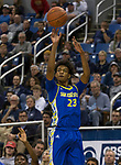 San Jose State guard  Seneca Knight (23) shoots against Nevada in the second half of an NCAA college basketball game in Reno, Nev., Wednesday, Jan. 9, 2019. (AP Photo/Tom R. Smedes)