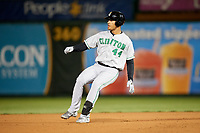 Clinton LumberKings left fielder Gareth Morgan (44) runs the bases during a game against the South Bend Cubs on May 5, 2017 at Four Winds Field in South Bend, Indiana.  South Bend defeated Clinton 7-6 in nineteen innings.  (Mike Janes/Four Seam Images)