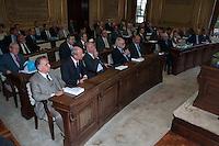 S&Atilde;O PAULO-SP-18,08,2014-MINISTRO DO STJ-LUIS FELIPE SALOM&Atilde;O/LAN&Ccedil;AMENTO/&quot;DIREITO PRIVADO-TEORIA E PR&Aacute;TICA&quot;-<br /> O Ministro do Superior Tribunal Federal Luis Felipe Salom&atilde;o durante o lan&ccedil;amento do livro &quot;Direito Privado-Teoria e Pr&aacute;tica,na Faculdade de Direito da USP,Largo S&atilde;o Franscisco na regi&atilde;o central da cidade de S&atilde;o Paulo,nessa segunda,18(Foto:Kevin David/Brazil Photo Press)