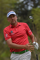 Ian Poulter (GBR) watches his tee shot on 18 during round 4 of the World Golf Championships, Mexico, Club De Golf Chapultepec, Mexico City, Mexico. 2/24/2019.<br /> Picture: Golffile | Ken Murray<br /> <br /> <br /> All photo usage must carry mandatory copyright credit (© Golffile | Ken Murray)
