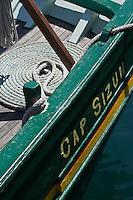 Europe/France/Bretagne/29/Finistère/ Audierne: Détail d'un vieux gréement sur le port