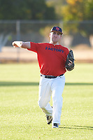 Dalton Taylor (54), from Kennewick, Washington, while playing for the Red Sox during the Under Armour Baseball Factory Recruiting Classic at Gene Autry Park on December 27, 2017 in Mesa, Arizona. (Zachary Lucy/Four Seam Images)