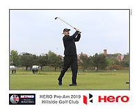 Playing with Dean Burmester (RSA) on the 10th tee during the Pro-Am of the Betfred British Masters 2019 at Hillside Golf Club, Southport, Lancashire, England. 08/05/19<br /> <br /> Picture: Thos Caffrey / Golffile<br /> <br /> All photos usage must carry mandatory copyright credit (&copy; Golffile | Thos Caffrey)