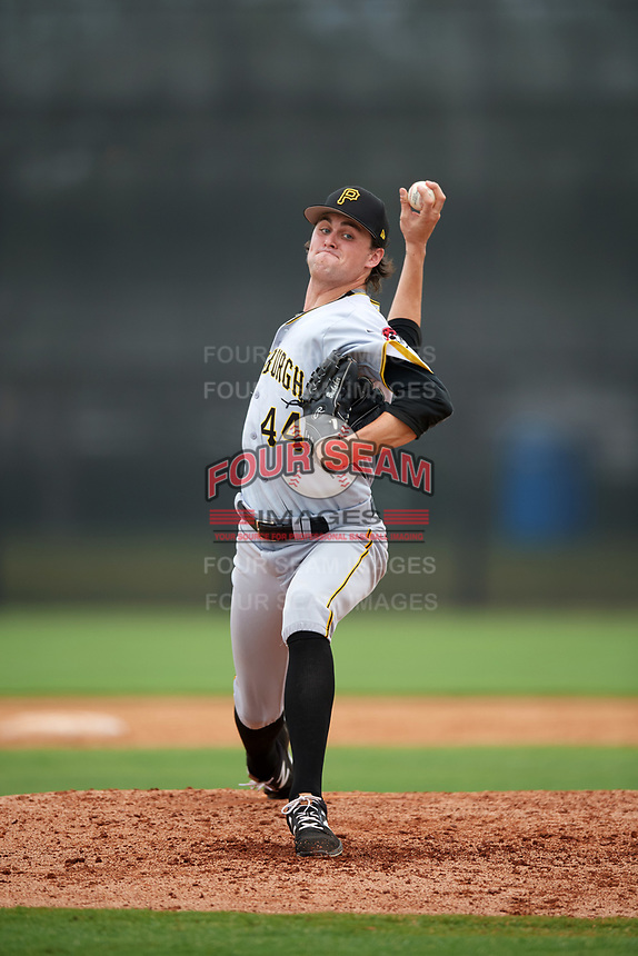 Pittsburgh Pirates pitcher J.T. Brubaker (44) delivers a pitch during an Instructional League game against the New York Yankees on September 29, 2017 at the Yankees Minor League Complex in Tampa, Florida.  (Mike Janes/Four Seam Images)