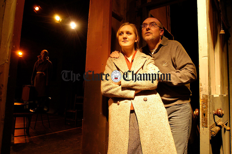 Alica Doyle with her Dad Mike, on stage in Doonbeg. Photograph by John Kelly.