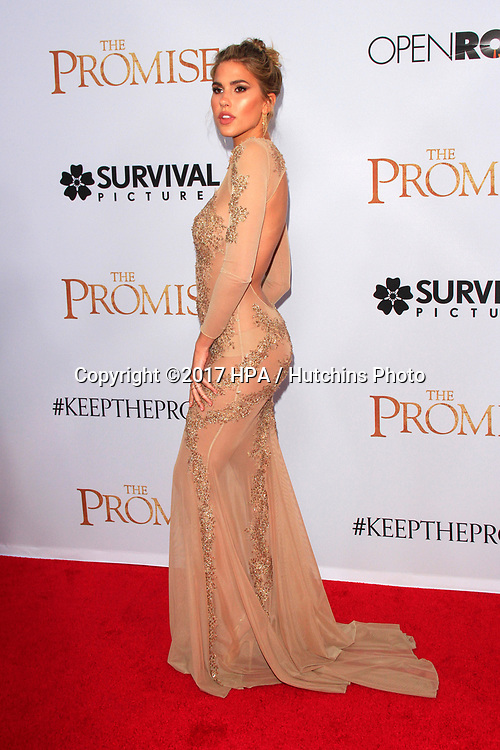 """LOS ANGELES - APR 12:  Kara Del Toro at the """"The Promise"""" Premiere at the TCL Chinese Theater IMAX on April 12, 2017 in Los Angeles, CA"""