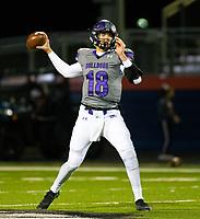 Fayetteville quarterback Hank Gibbs (18) passes the ball against Rogers Heritage at Gates Stadium, Rogers, AR on November 1, 2019 / Special to NWA Democrat Gazette David Beach