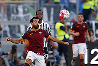 Calcio, Serie A: Roma vs Juventus. Roma, stadio Olimpico, 30 agosto 2015.<br /> Roma&rsquo;s Mohamed Salah controls the ball during the Italian Serie A football match between Roma and Juventus at Rome's Olympic stadium, 30 August 2015.<br /> UPDATE IMAGES PRESS/Riccardo De Luca