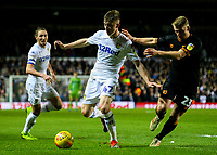 Leeds United's Jack Clarke takes on Hull City's Stephen Kingsley<br /> <br /> Photographer Alex Dodd/CameraSport<br /> <br /> The EFL Sky Bet Championship - Leeds United v Hull City - Saturday 29th December 2018 - Elland Road - Leeds<br /> <br /> World Copyright © 2018 CameraSport. All rights reserved. 43 Linden Ave. Countesthorpe. Leicester. England. LE8 5PG - Tel: +44 (0) 116 277 4147 - admin@camerasport.com - www.camerasport.com
