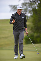 Mackenzie Hughes (CAN) watches his putt on 10 during Round 2 of the Valero Texas Open, AT&T Oaks Course, TPC San Antonio, San Antonio, Texas, USA. 4/20/2018.<br /> Picture: Golffile | Ken Murray<br /> <br /> <br /> All photo usage must carry mandatory copyright credit (© Golffile | Ken Murray)