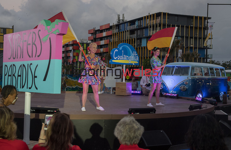 *This image must be credited to Ian Cook Sportingwales and can only be used in conjunction with this event only*<br /> <br /> 21st Commonwealth Games - Wales Welcoming ceremony - Athletes Village - 03/04/2018 - Gold Coast City - Australia