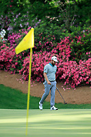 Tyrrell Hatton (ENG) on the 13th green during the 1st round at the The Masters , Augusta National, Augusta, Georgia, USA. 11/04/2019.<br /> Picture Fran Caffrey / Golffile.ie<br /> <br /> All photo usage must carry mandatory copyright credit (&copy; Golffile | Fran Caffrey)