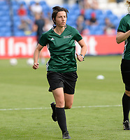 20170601 - CARDIFF , WALES : German assistant referee Katrin Rafalski pictured during a womensoccer match between the teams of  Olympique Lyonnais and PARIS SG, during the final of the Uefa Women Champions League 2016 - 2017 at the Cardiff City Stadium , Cardiff - Wales - United Kingdom , Thursday 1  June 2017 . PHOTO SPORTPIX.BE | DAVID CATRY