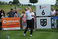 Former England International rugby player Mike Tindall during The 2017 Celebrity Cup at the Celtic Manor Resort, Newport, South Wales, 01.07.2017<br /> <br /> <br /> Jeff Thomas Photography -  www.jaypics.photoshelter.com - <br /> e-mail swansea1001@hotmail.co.uk -<br /> Mob: 07837 386244 -