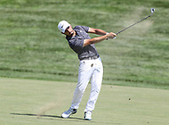Potomac, MD - June 30, 2018:  Abraham Ancer (USA) hits the ball during Round 3 at the Quicken Loans National Tournament at TPC Potomac in Potomac, MD, June 30, 2018.  (Photo by Elliott Brown/Media Images International)