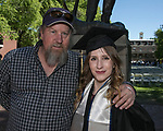 Cheyenne Lawrence and dad Tom Parker, left, during the University of Nevada College of Engineering, College of Science and Orvis School of Nursing graduation ceremony on Thursday evening, May 18, 2017.