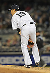 Masahiro Tanaka (Yankees), APRIL 9, 2014 - MLB : New York Yankees starting pitcher Masahiro Tanaka during the MLB game between the New York Yankees and the Baltimore Orioles at Yankee Stadium in The Bronx, New York, United States. (Photo by AFLO)