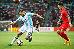Eduardo Salvio of Argentina (L) during the International Test match between Argentina and Singapore at National Stadium on June 13, 2017 in Singapore. Photo by Marcio Rodrigo Machado / Power Sport Images