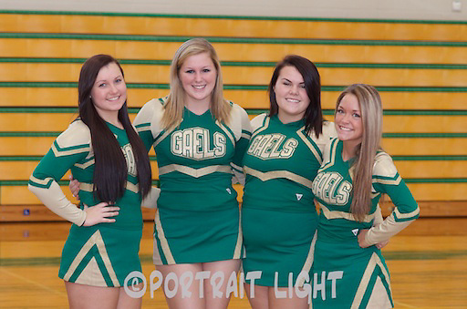 CHS seniors (from left) Emily Burke, Amanda DiLorenzo, Michaela Dion and Eden Nugent.