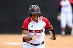 RALEIGH, NC - MAY 07: NC State's Cheyenne Balzer. The North Carolina State University Wolfpack hosted the University of Louisville Cardinals on May 7, 2017, at Dail Softball Stadium in Raleigh, NC in a Division I College Softball game. Louisville won the game 7-0.