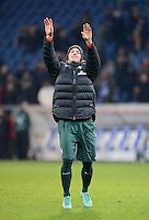 FUSSBALL   1. BUNDESLIGA  SAISON 2012/2013   15. Spieltag TSG 1899 Hoffenheim - SV Werder Bremen    02.12.2012 SCHLUSSJUBEL SV Werder Bremen; Dreifacher Torschuetze Marko Arnautovic