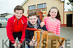 Cian Broderick, Cian Daly and Caoimhe Broderick Rockchapel at the Con Curtin traditional music festival in Brosna on Saturday
