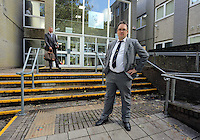 2016 09 08 Thomas Sinclair, newspaper editor appears ath Llanelli Magistrates Court, Wales, UK