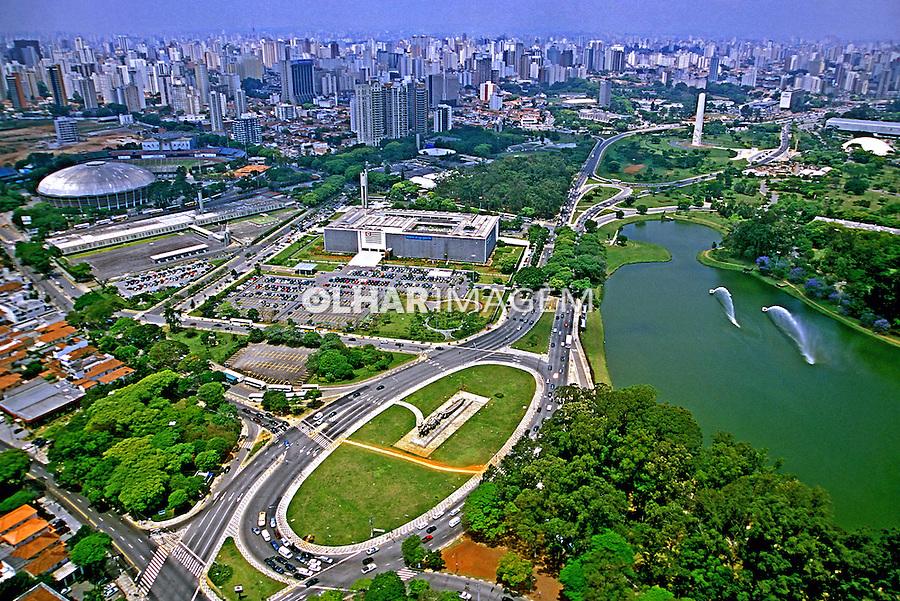 Aerea do Parque do Ibirapuera. São Paulo. 1995. Foto de Juca Martins.