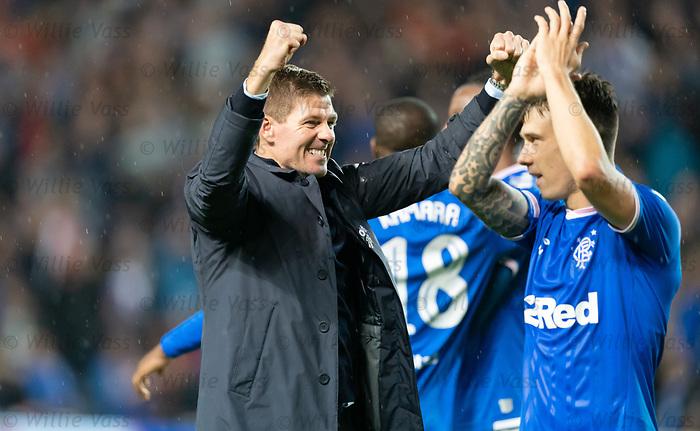 29.08.2019 Rangers v Legia Warsaw: Steven Gerrard
