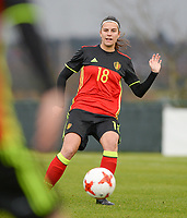20171125 - TUBIZE , BELGIUM : Belgian Laura De Neve pictured during the friendly female soccer game between the Belgian Red Flames and Russia , Saturday 25 th November 2017 at the Belgian FA Euro 2000 Center in Tubize , Belgium. PHOTO SPORTPIX.BE | DAVID CATRY