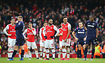 Arsenal's Alexandre Lacazette waits for a decision from the VAR on whether his goal would stand during the Premier League match at the Emirates Stadium, London. Picture date: 7th March 2020. Picture credit should read: Paul Terry/Sportimage