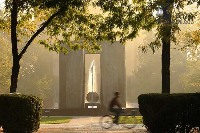 Stonehenge on a misty morning..Photo by Matt Cashore/University of Notre Dame