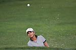 Duramed Futures Tours' Sophia Sheridan from Guadalajara, Mexico punched the ball out of the bunker on the 16th hole at Alliance Bank Golf Classic in Syracuse NY.