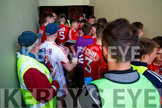 A male broke out on the way to the dressing rooms at half time of the Kerry v Cork U-17 Munster final at Austin Stack park Tralee on Tuesday night.