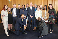 18 April 2017 - Prince William, Duke of Cambridge and Nick Knowles pose with runners who feature in the documentary as he attends a reception ahead of the screening of the BBC documentary 'Mind over Marathon' at BBC Radio Theatre in London.  The screening also launches the BBC season on mental health. Photo Credit: ALPR/AdMedia