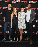 NEW YORK, NY - OCTOBER 07:  Matthew Daddario,  Katherine McNamara,Alisha Wainwright and Isiah Mustafa from the cast of the Shadowhunters attend the press day at New York ComicCon at the Theater at Madison Square Garden on October 7, 2017 in New York City. <br /> CAP/MPI/JP<br /> &copy;JP/MPI/Capital Pictures