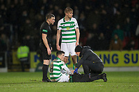 29th January 2020; McDairmid Park, Perth, Perth and Kinross, Scotland; Scottish Premiership Football, St Johnstone versus Celtic; Michael Johnston of Celtic gets treatment after going down injured
